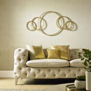 Eternity Gold Metallic Metal Wall Art, , wallpaperIT