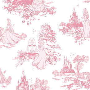 Princess Toile Pink Wallpaper, , wallpaperIT