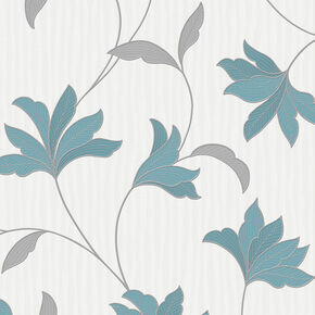 Alannah Teal and Silver Wallpaper, , wallpaperIT