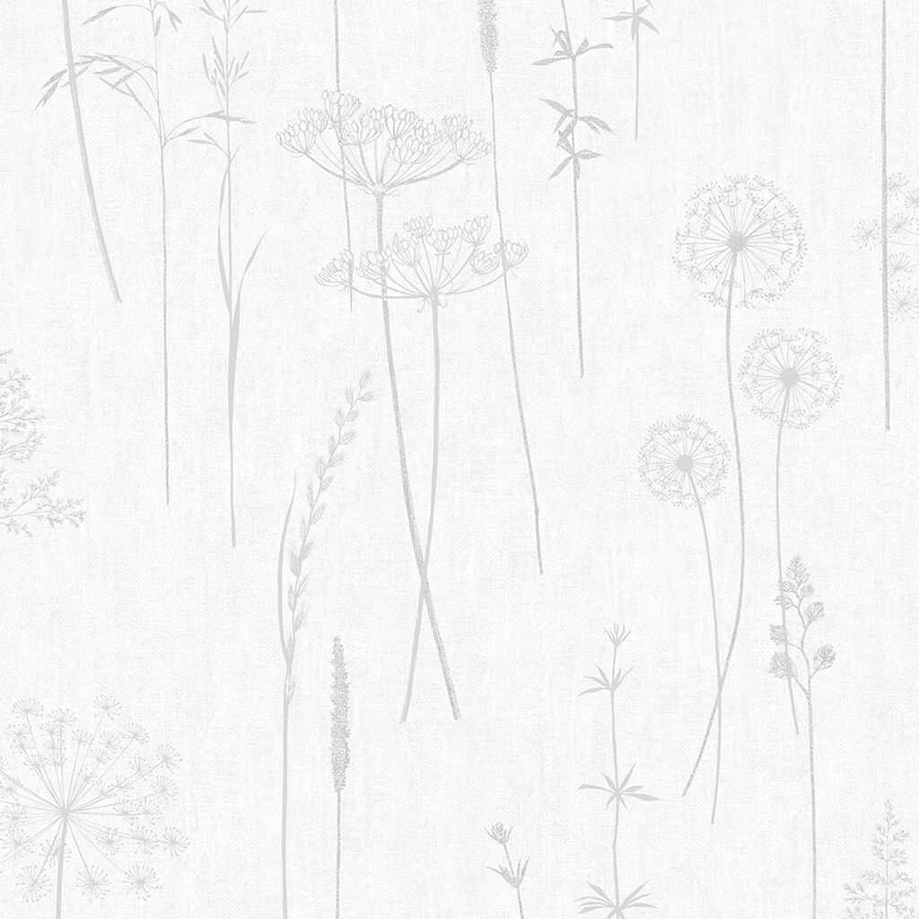 Meadow Silver Wallpaper, , wallpaperIT