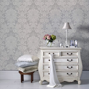 Venetian Damask Grey Wallpaper, , wallpaperIT