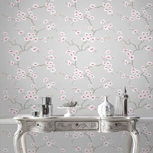 Apple Blossom Tree Grey Wallpaper, , wallpaperIT
