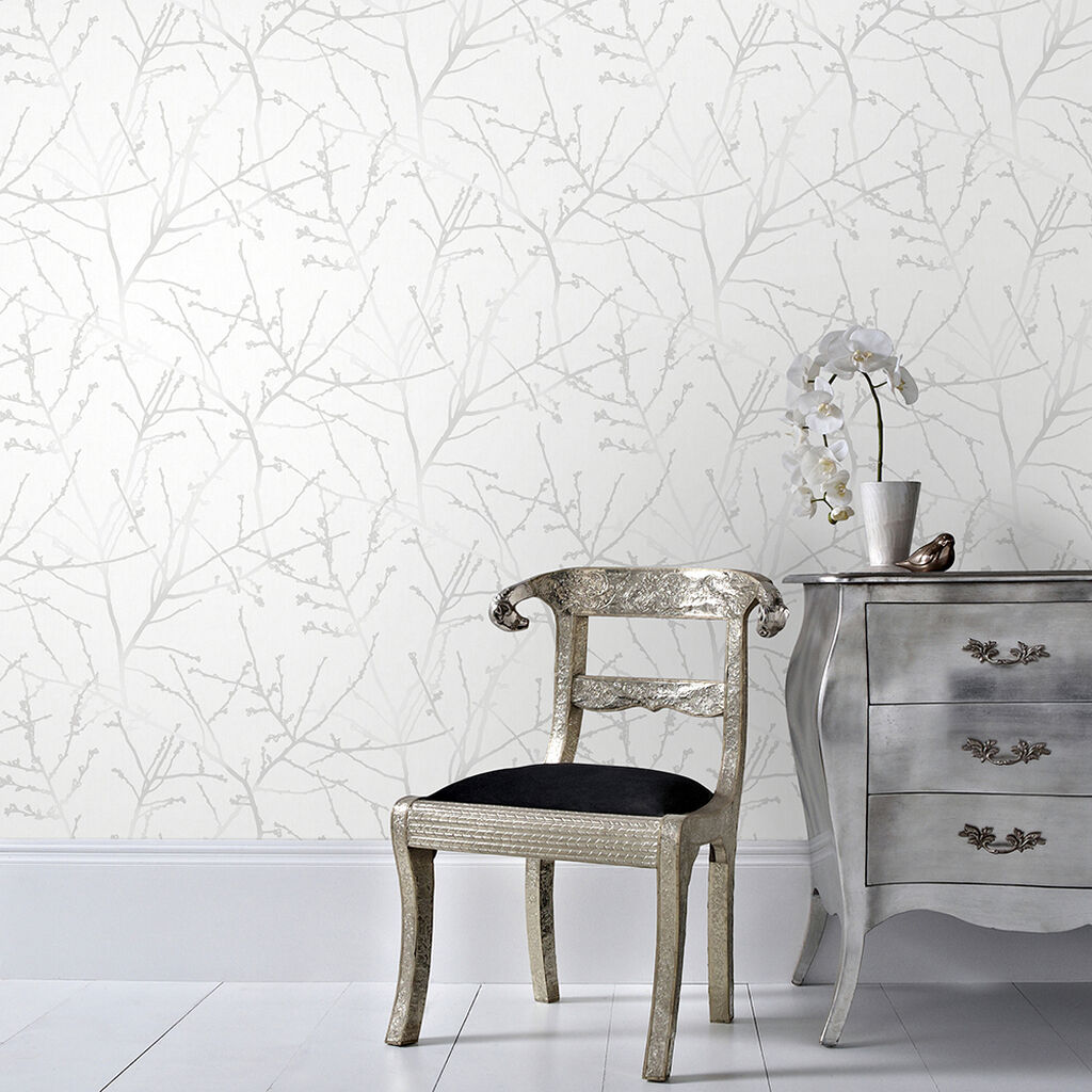 Innocence White Mica Wallpaper, , wallpaperIT