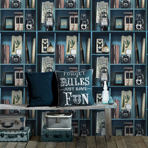 Curiosite Biblio Blue Wallpaper, , wallpaperIT