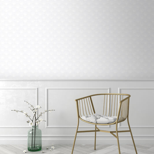 Ecailles Gatsby White Wallpaper, , wallpaperIT