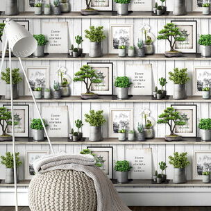 Etagere Green Wallpaper, , wallpaperIT