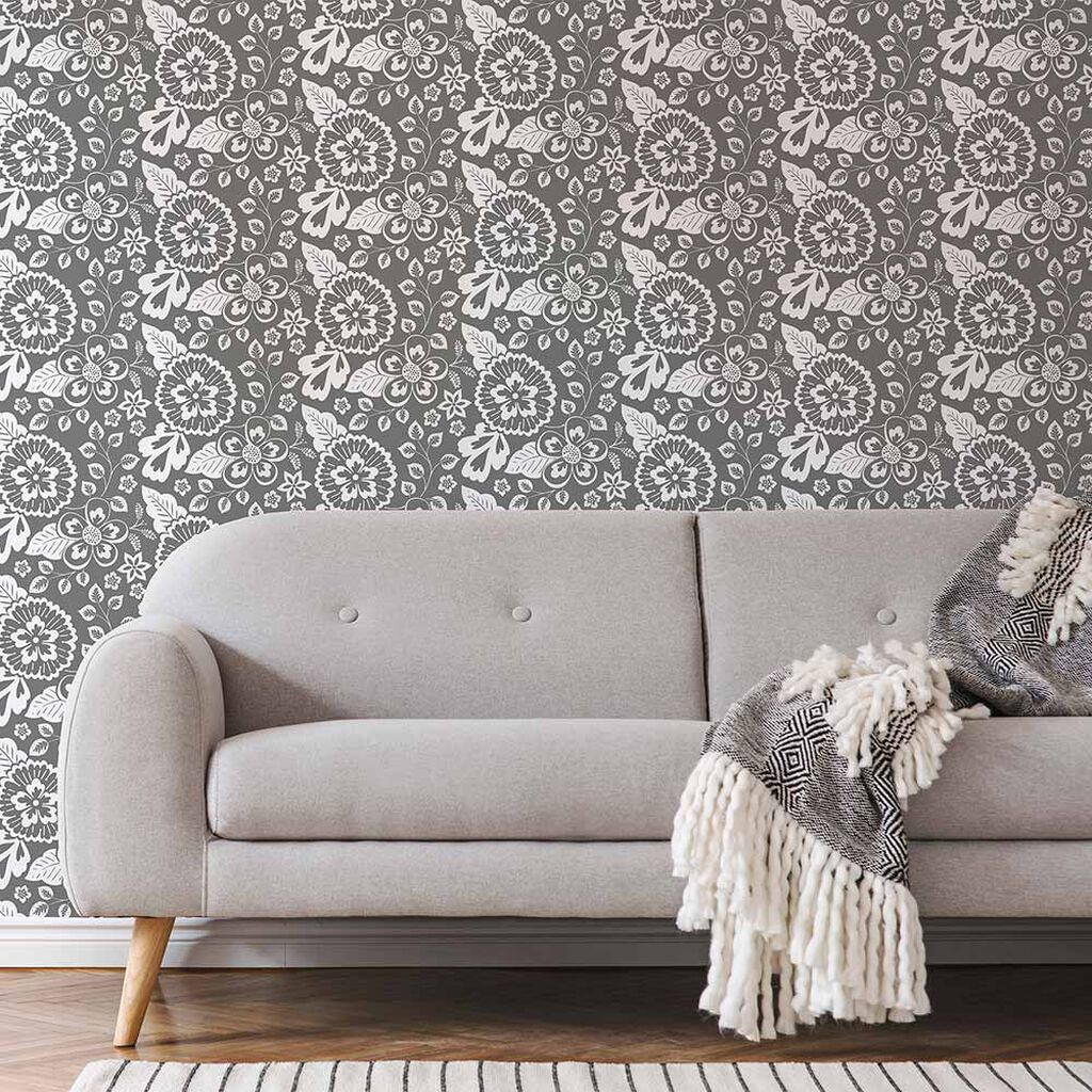 Elle Graphique Grey Wallpaper, , wallpaperIT