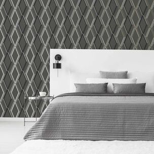 Prestige Geo Charcoal Wallpaper, , wallpaperIT