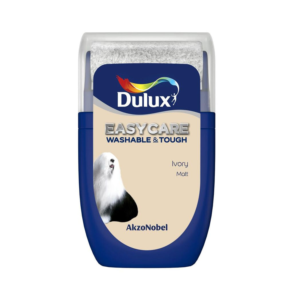 Dulux Easycare Ivory 30ml Tester Pot, , wallpaperIT