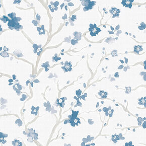 Ushi Blue Floral Wallpaper, , wallpaperIT