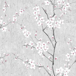 Soft Grey Sakura Wallpaper, , wallpaperIT