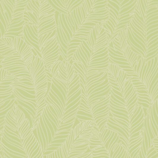 Leaf All Over Green Wallpaper, , wallpaperIT
