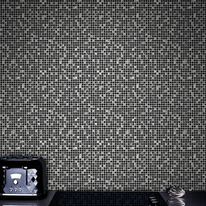 Aurora Tile Black and Silver Wallpaper, , wallpaperIT