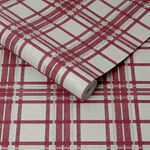 Country Tartan Red Wallpaper