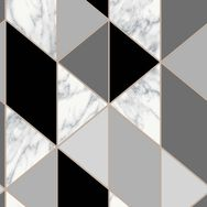 Marble Geo Charcoal Wallpaper, , wallpaperIT