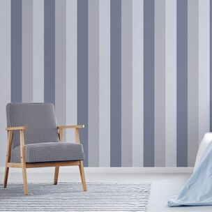 Retro Stripe Navy Wallpaper, , wallpaperIT