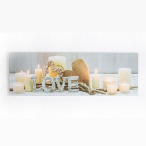 Love Led Printed Canvas Wall Art, , wallpaperIT