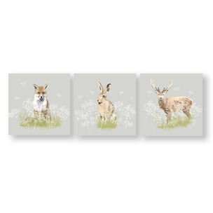 Woodland Animals Canvas Wall Art, , wallpaperIT
