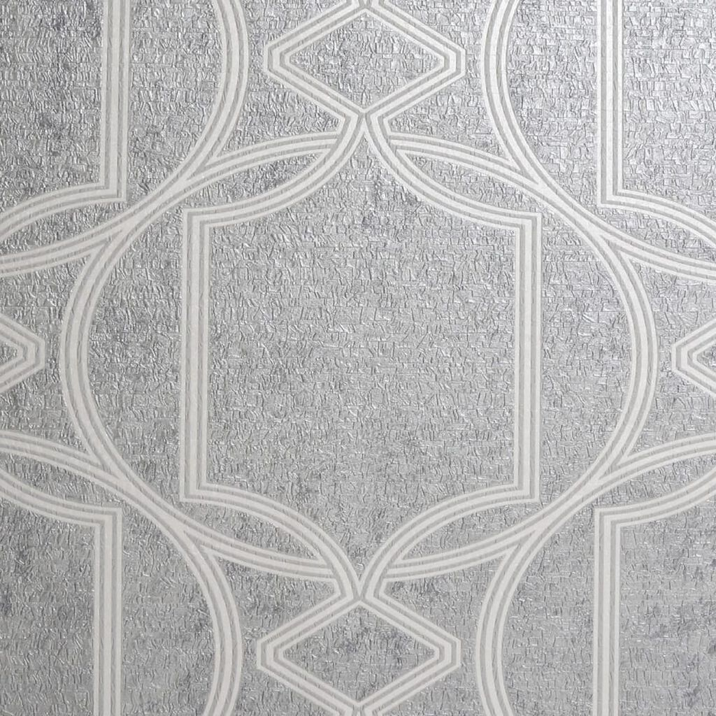 Deco Geo Soft Grey Wallpaper, , wallpaperIT