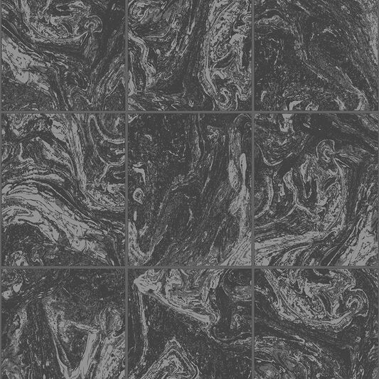 Glitter Marble Tile Black Wallpaper, , wallpaperIT