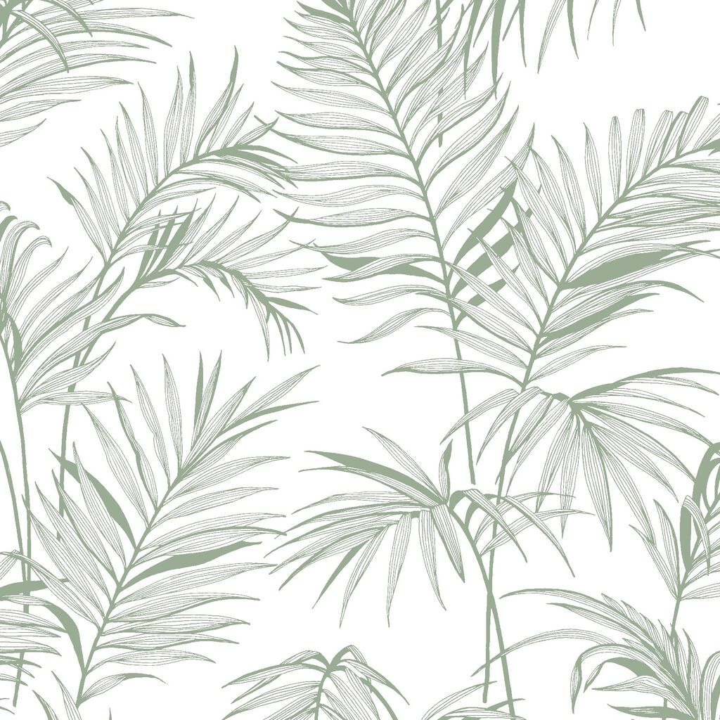 Litho Tropical Green Wallpaper, , wallpaperIT