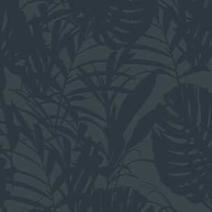 Palm Blue Tropical Leaf Wallpaper, , wallpaperIT