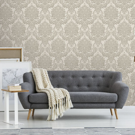 Vogue Taupe Wallpaper, , wallpaperIT