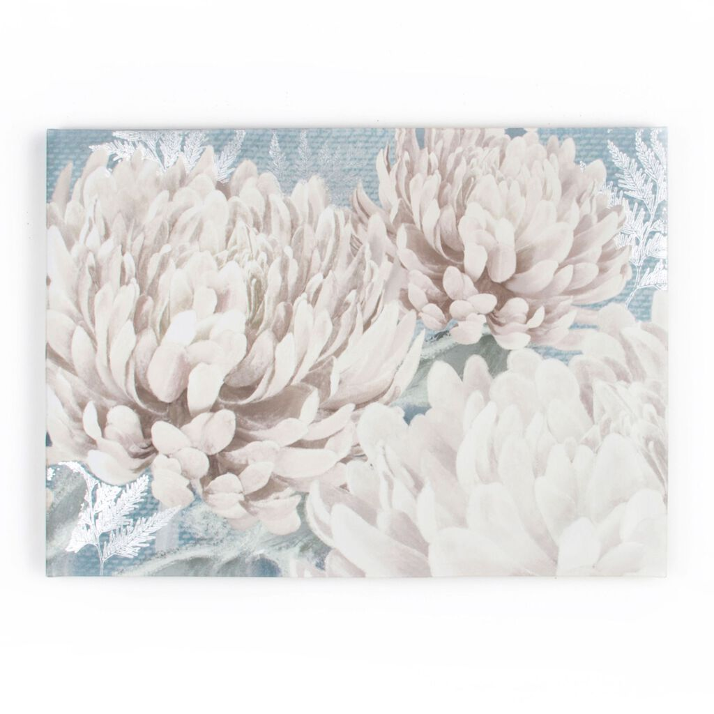 Teal Bloom Printed Canvas Wall Art, , wallpaperIT