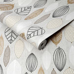 Scandi Leaf Copper Wallpaper
