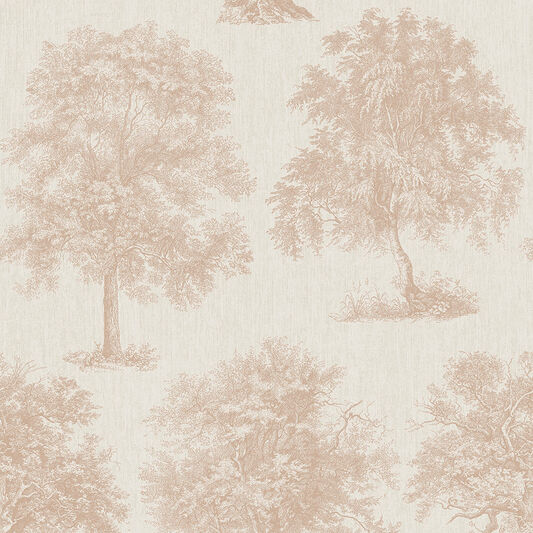 Enchanted Tree Rose Gold Wallpape Gold Wallpaper