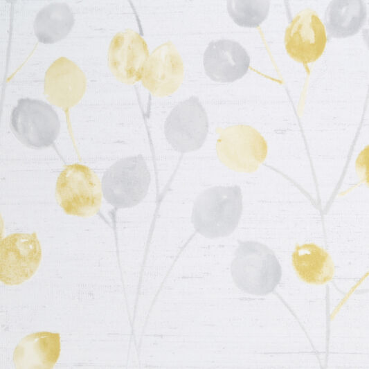 Honesty Grey & Ochre Wallpaper, , wallpaperIT