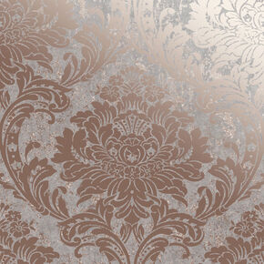 Milan Damask Rose Gold Wallpaper, , wallpaperIT