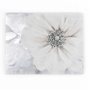 Grey Bloom Printed Canvas Wall Art, , wallpaperIT