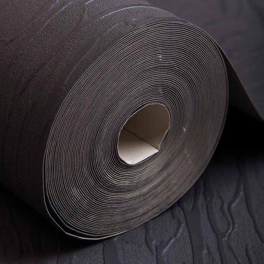 Crushed Silk Black Wallpaper, , wallpaperIT