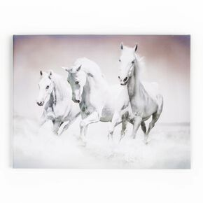 Galloping Waves Printed Canvas Wall Art, , wallpaperIT
