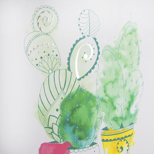 Cactus Craze Printed Canvas Wall Art, , wallpaperIT