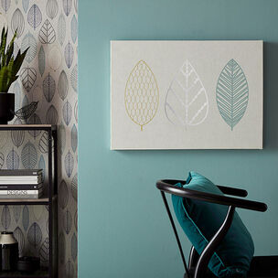 Scandi Leaf Trio Wall Art, , wallpaperIT