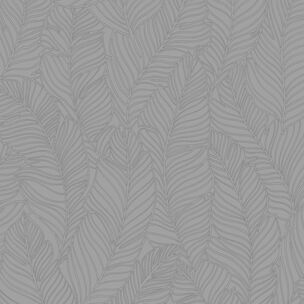 Leaf All Over Grey Wallpaper, , wallpaperIT