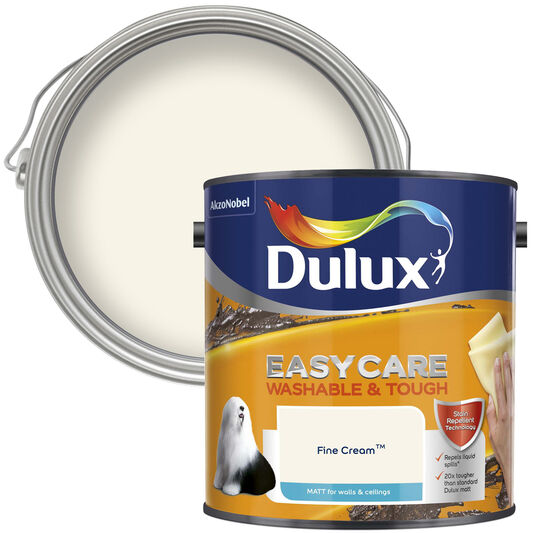 Dulux Easycare Matt 2.5L Fine Cream, , wallpaperIT