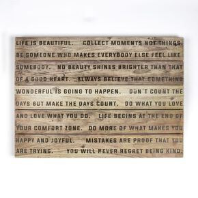 Life Is Beautiful Print On Wood Wall Art, , wallpaperIT
