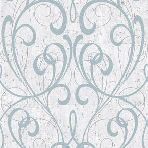 Pale Blue & Silver Cork Damask Wallpaper, , wallpaperIT