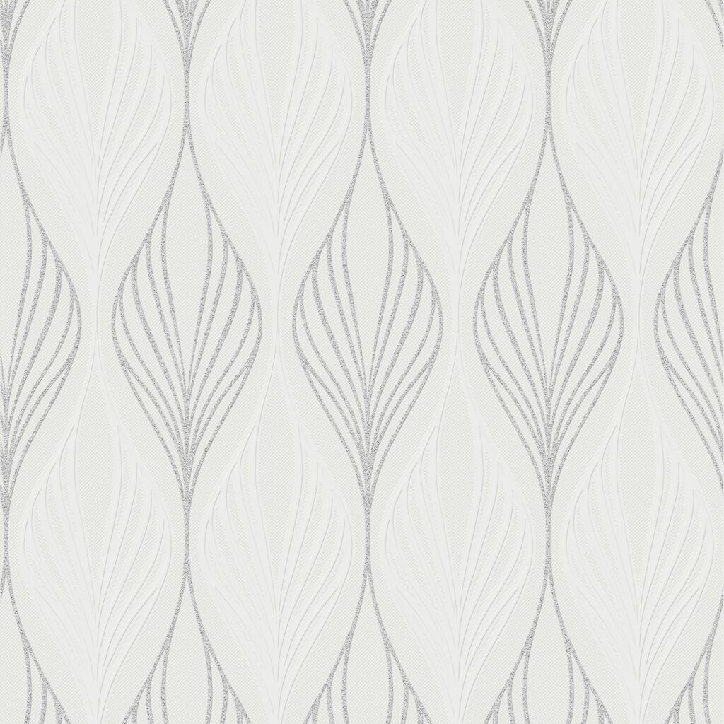 Optimum White and Silver Wallpaper, , wallpaperIT