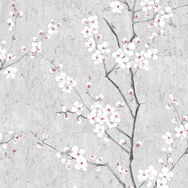 Soft Gray Sakura Wallpaper, , wallpaperIT