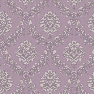 Jacquard Purple and Cream Wallpaper, , wallpaperIT