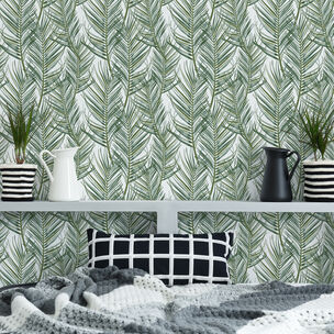 Transform Palm White Wallpaper, , wallpaperIT