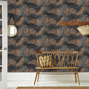 Jungle Glam Black & Gold Wallpaper, , wallpaperIT