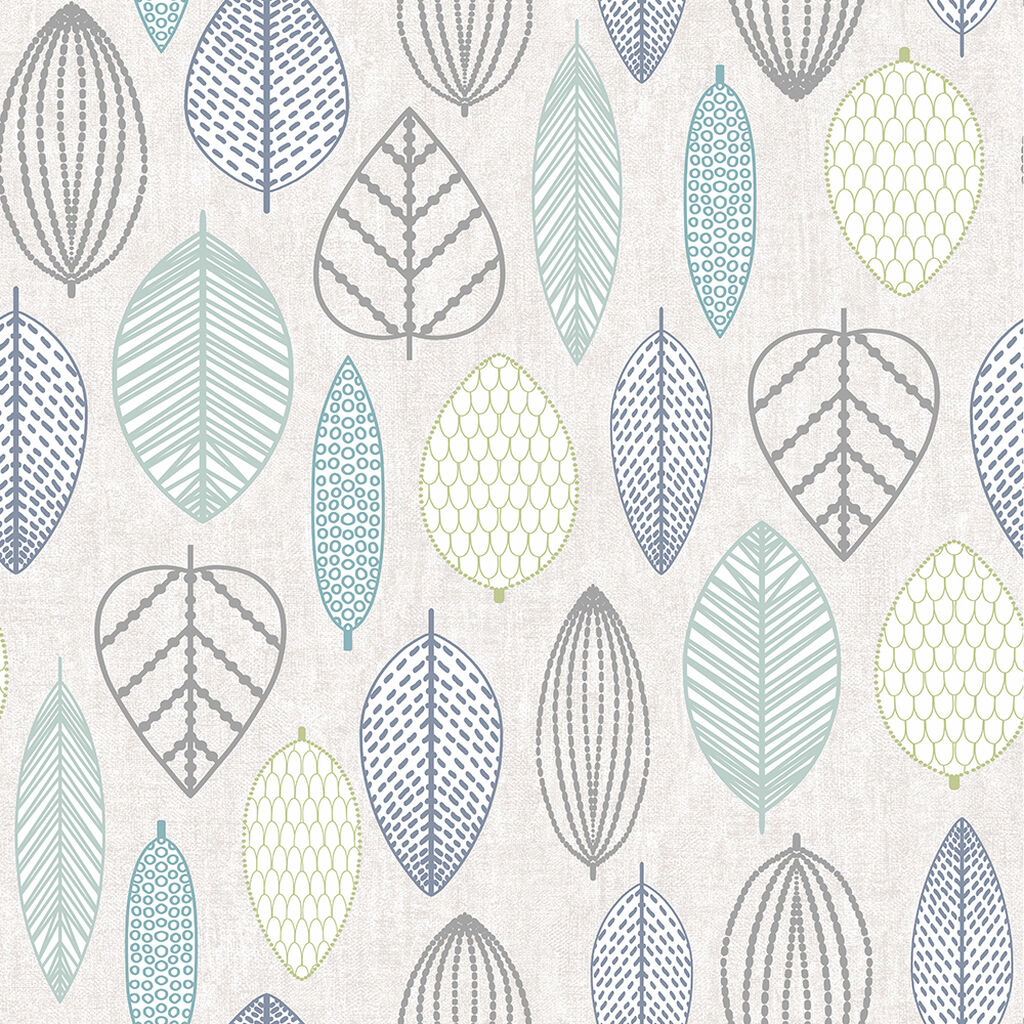 Scandi Leaf Wallpaper, , wallpaperIT