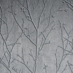 Water Silk Sprig Charcoal Wallpaper, , wallpaperIT