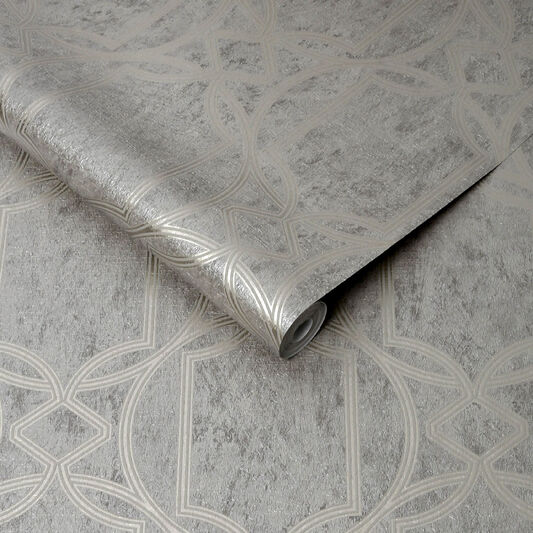 Deco Geo Taupe Wallpaper, , wallpaperIT