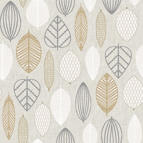 Scandi Leaf Copper Wallpaper, , wallpaperIT